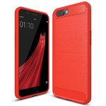 Flexi Slim Carbon Fibre Case for Oppo R11 Plus - Brushed Red